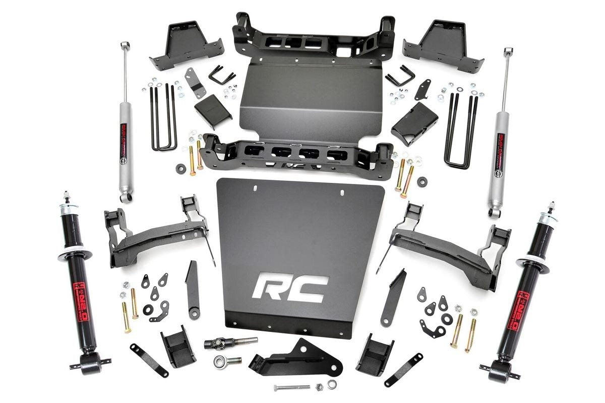 7IN GM SUSPENSION LIFT KIT | LIFTED STRUTS (14-18 1500 PU 4WD | ALUMINUM) - Elite Auto Customs