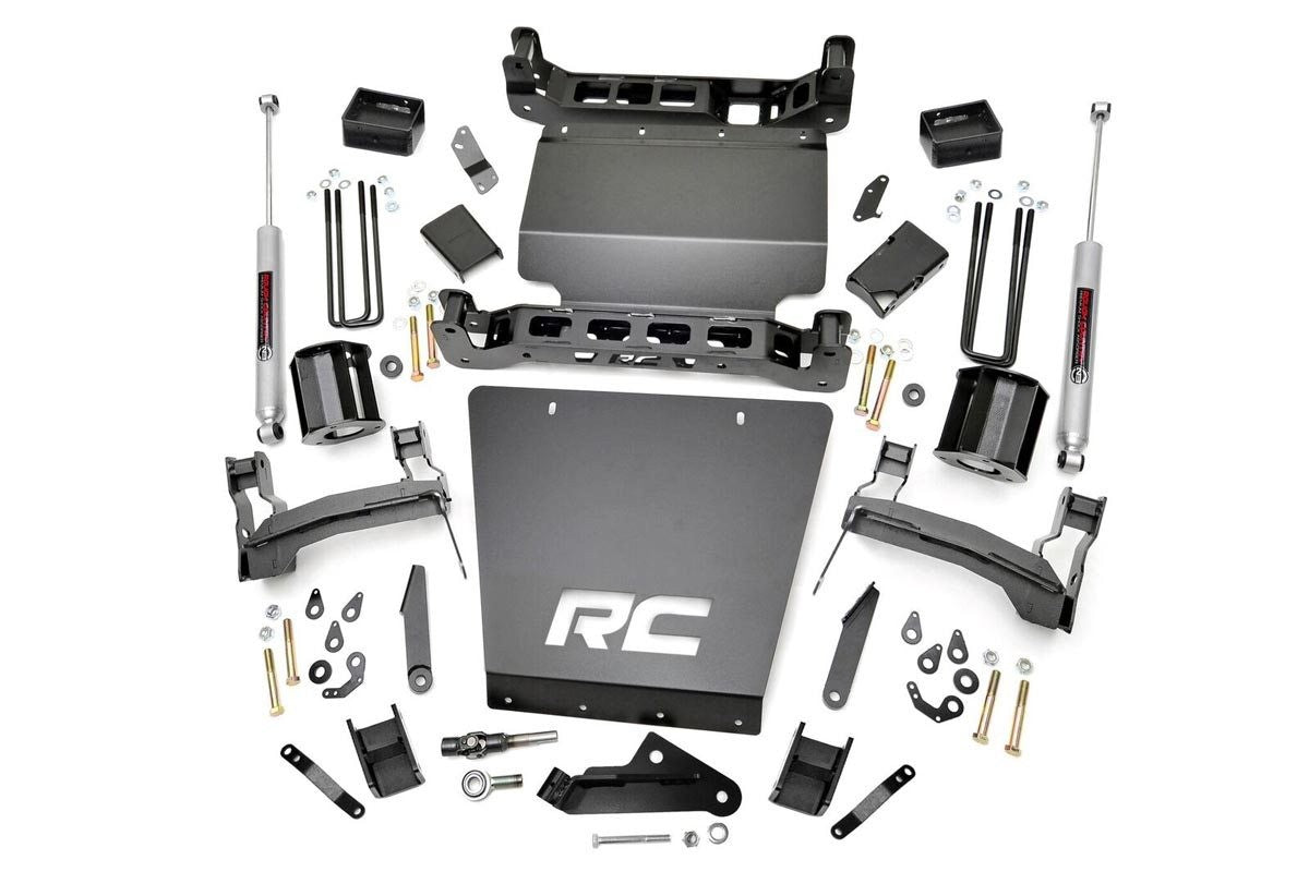 5IN GM SUSPENSION LIFT KIT W/N2.0 (14-18 1500 PU 4WD) - Elite Auto Customs