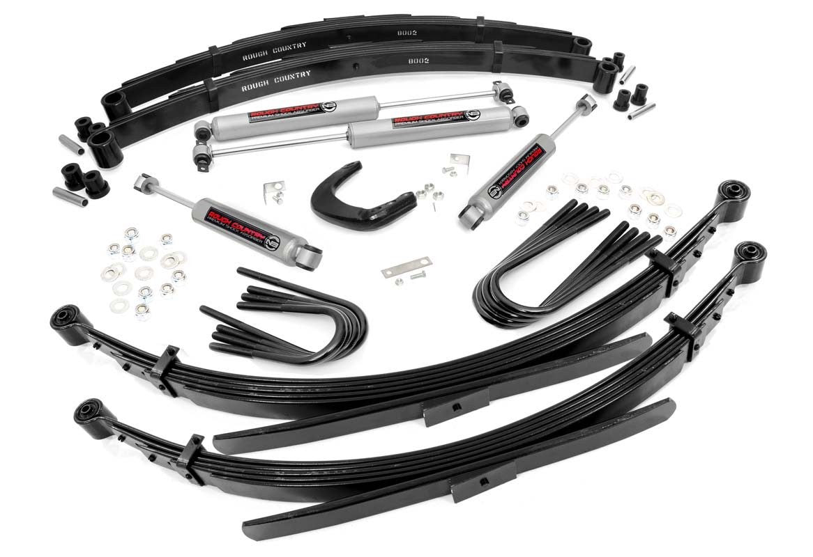 73-76 Chevy Silverado/GMC Sierra  1/2-Ton 4 inch Rough Country Lift Kit - Elite Auto Customs