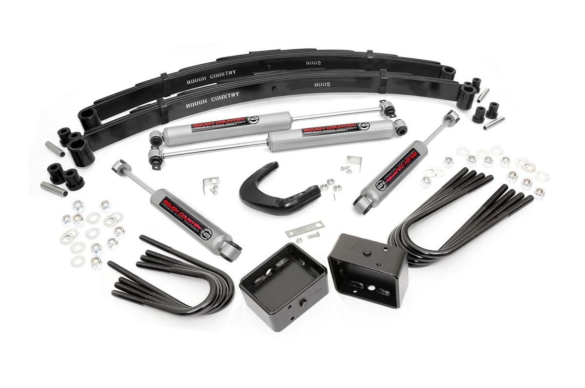 77-87 Chevy Silverado/GMC Sierra 3/4-Ton 4inch Rough Country Lift Kit - Elite Auto Customs