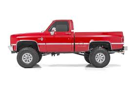 77-87 Chevy Silverado/GMC Sierra 1/2-Ton 4 inch Rough Country Lift Kit - Elite Auto Customs