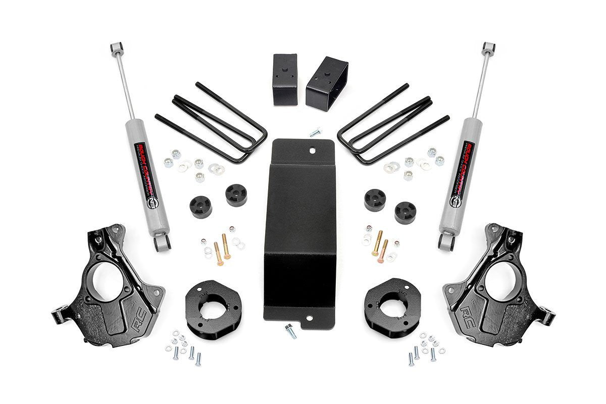 3.5IN GM SUSPENSION LIFT | KNUCKLE KIT (14-18 1500 PU 4WD | ALUMINUM & STAMPED STEEL) - Elite Auto Customs