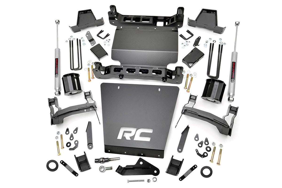 7IN GM SUSPENSION LIFT KIT | STRUT SPACERS (16-18 1500 PU 4WD | STAMPED STEEL) - Elite Auto Customs