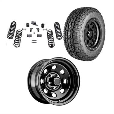 "2018 JEEP Rubicon Express Genuine Packages Trail Master 3"" Lift Kit with Pro Comp 97 Series Rock Crawler Wheels and Pro Comp A/T Sport Tires - JEEPJKPKG2 - Elite Auto Customs"