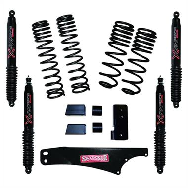 "2018 Jeep Skyjacker Skyjacker 2-2.5"" Dual Rate Long Travel Lift Kit with Black Max Shocks - JK20BPBLT - Elite Auto Customs"