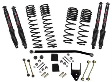 "2019 JEEP Rubicon Express Skyjacker 3.5"" Dual Rate-Long Travel Lift Kit System with Black MAX Shocks (Non-Rubicon Models) - JL35BPBLT - Elite Auto Customs"