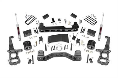 "2018 Ford Rubicon Express Rough Country 4"" Ford Suspension Lift Kit with N3 Shocks - 555.22 - Elite Auto Customs"