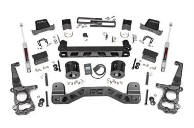 "2018 Ford Rubicon Express Rough Country 6"" Ford Suspension Lift Kit with N3 Shocks - 553.22 - Elite Auto Customs"