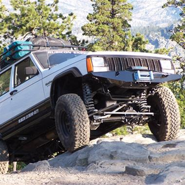 1984 JEEP Rubicon Express 3.5 Inch Super-Ride Short Arm Lift Kit with Rear Add-A-Leafs and Mono Tube Shocks - Elite Auto Customs