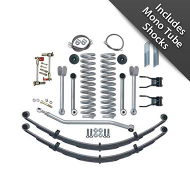 1984 JEEP Rubicon Express 4.5 Inch Super-Flex Short Arm Lift Kit with Rear Leaf Springs and Mono Tube Shocks - Elite Auto Customs