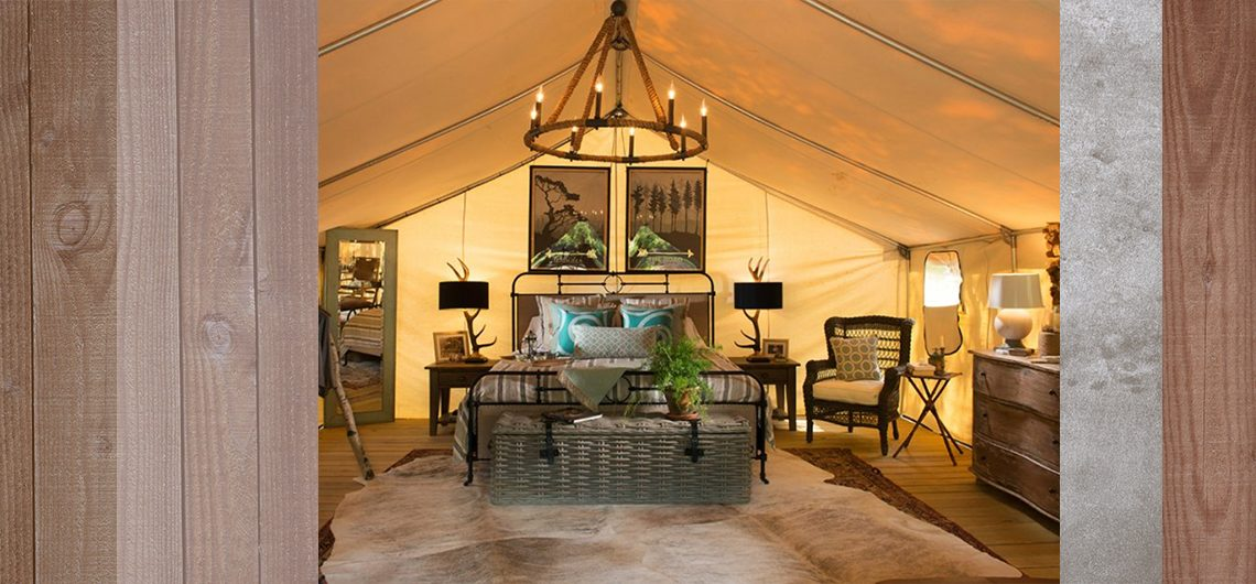 Glamping tent in Kennebunkport, Maine