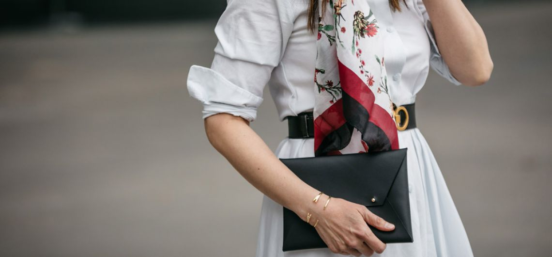 Floral scarf, clutch & bangles from Spring 2019 Box of Style