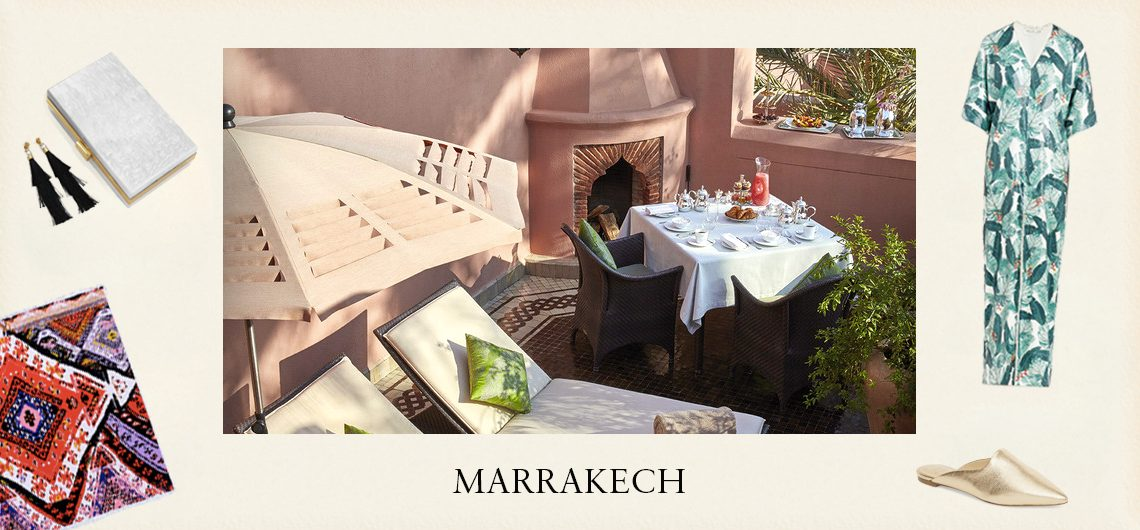 Marrakech travel guide - Collage of fashion and Marrakech lifestyle