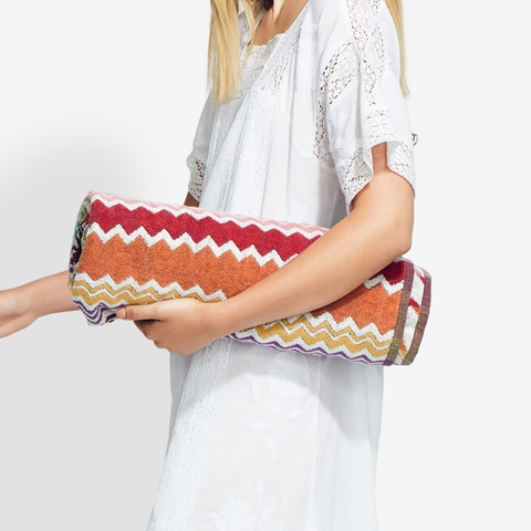 weekend getaway outfits - Missoni beach towel