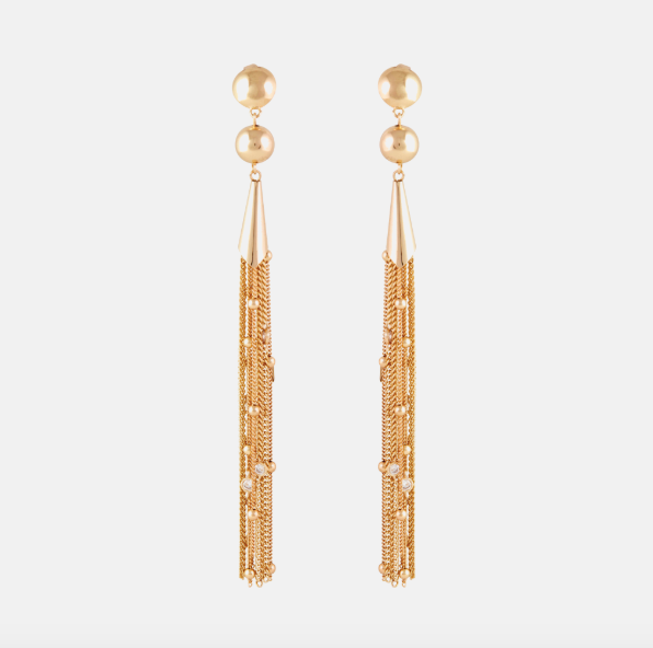 Rachel Zoe Collection Gold Ettika Crystal Drop Earrings