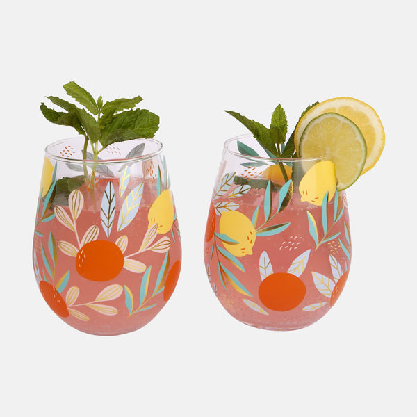 Sunnylife Stemless Cocktail Glasses