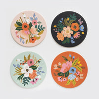 Rifle Paper Co. Lively Floral Paper Coasters, Set of 4