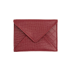 bordeaux leather card case