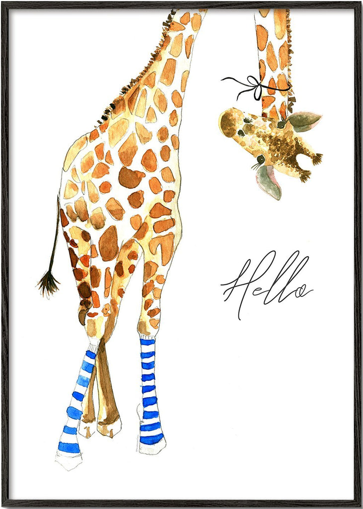 Giraffe with socks