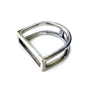 STIRRUP RING | Equestrian Style Ring | Stainless Steel Jewelry - AtelierCG™ by AtelierCG™