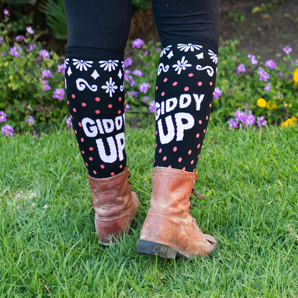 GIDDY UP by Milton Menasco, Knit Boot Socks