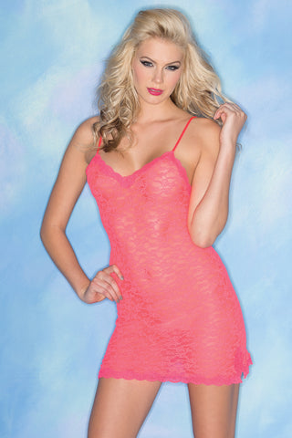 Stretchy Hot Pink 2 Piece Teddy With Matching Thong - The Naughty Closet