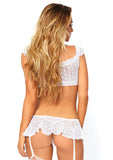 2 Piece Bralette And Garter Skirt, M/L