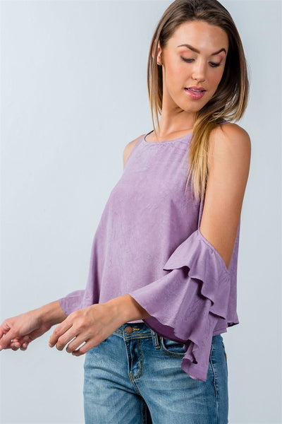 Back Keyhole Open-Shoulder Wing Top - The Naughty Closet