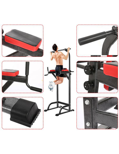 Chin Up Bar Adjustable Abs Workout Knee Crunch