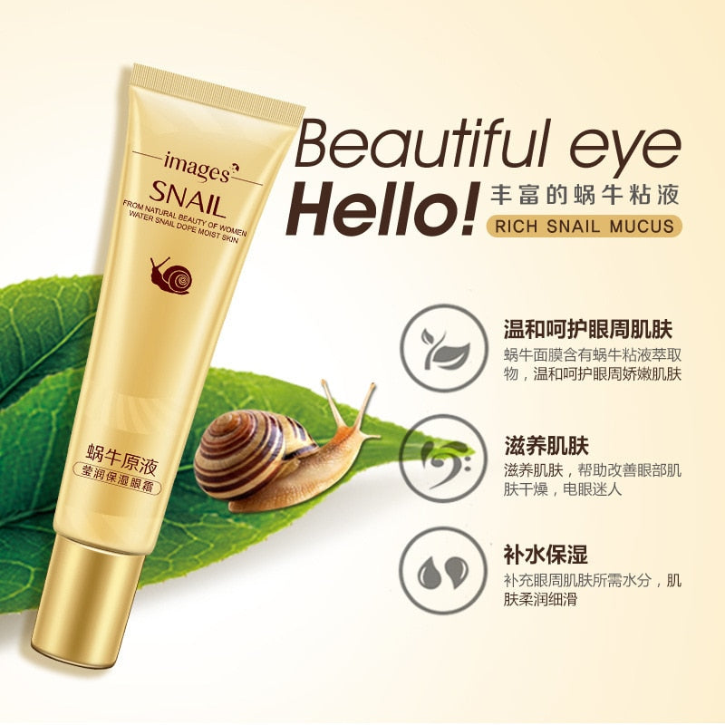 Snail Essence Eye Cream Moisturizing Dark Circles Remove Eye Bags