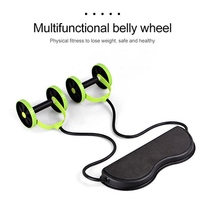 Fitness Ab Wheel Roller with Mat