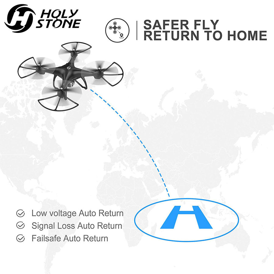 Holy Stone HS100 GPS  RC Drone Camera Live Video GPS Return Home Adjustable 1080P 720P HD