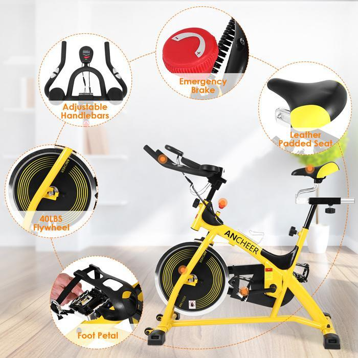ANCHEER Aerobic Cardio Home Gym Fitness Indoor Spinning Cycling Training Exercise Bike