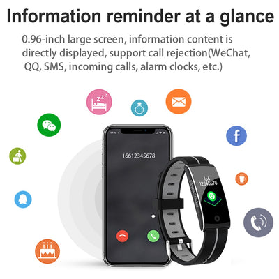 LEMDIOE Waterproof IP68 smart fitness bracelet 2019 heart rate blood pressure fitness tracker call message reminder pedometer
