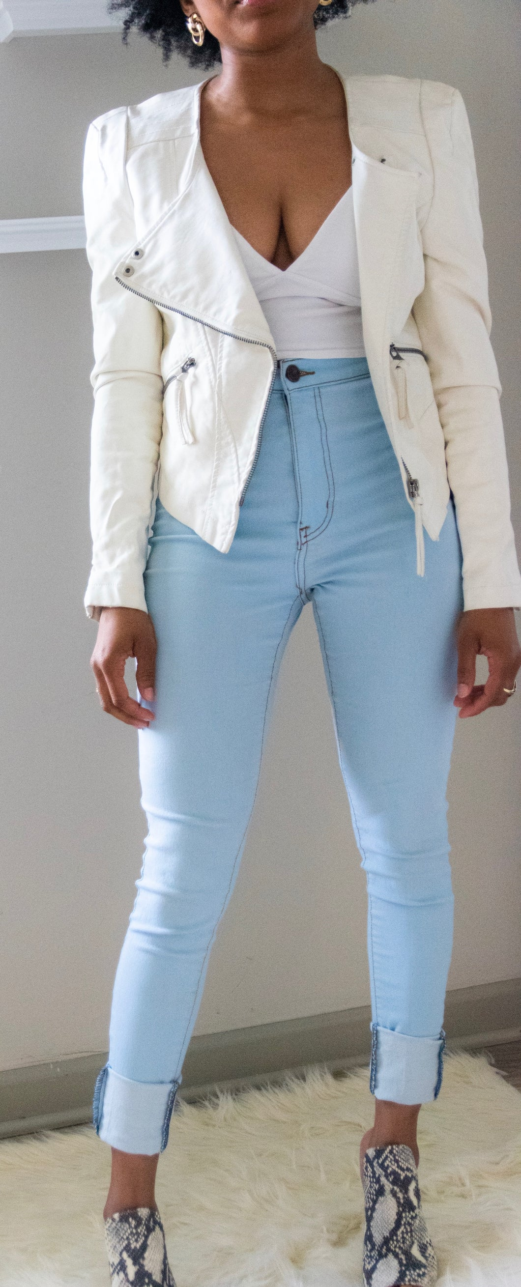 White Moto Jacket - Miss Tino Boutique