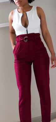 Rouge Tapered Trousers - Miss Tino Boutique