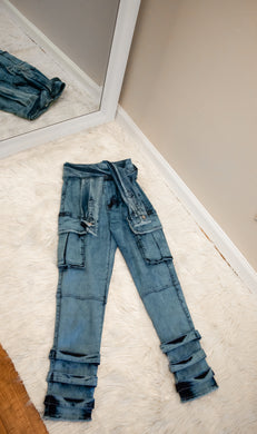 All Tied Up Denim - Miss Tino Boutique