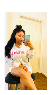 BOMB$HELL HOODIE - CREAM - SMALL LOGO - Miss Tino Boutique