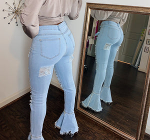 Distressed Jeans - Miss Tino Boutique