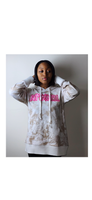 BOMB$HELL HOODIE - CREAM - LARGE LOGO - Miss Tino Boutique