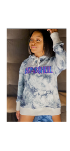 BOMB$HELL HOODIE - GREY - LARGE LOGO - Miss Tino Boutique