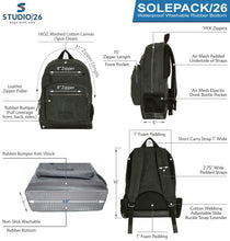 Load image into Gallery viewer, Studio/26 SOLEPACK Luxury Mirrorless Camera Backpack  Waterproof Rubber Bottom