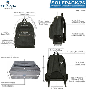 Studio/26 SOLEPACK Luxury Mirrorless Camera Backpack  Waterproof Rubber Bottom