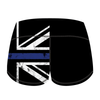 Double Take Booty Shorts (United Kingdom Thin Blue Line Police Edition)