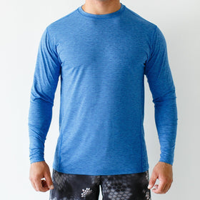 The Athleisure Long-Sleeve Crew (Royal)