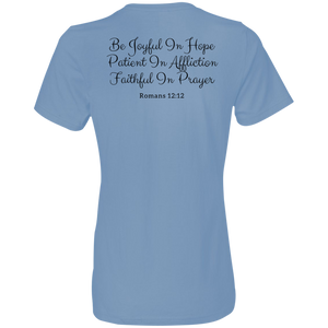 880 Anvil Ladies' Lightweight T-Shirt 4.5 oz with Romans Verse