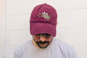Maroon Flower Hat