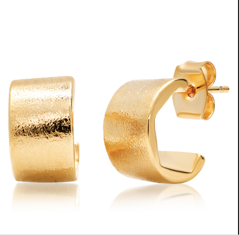 Thick Gold Huggie Studs
