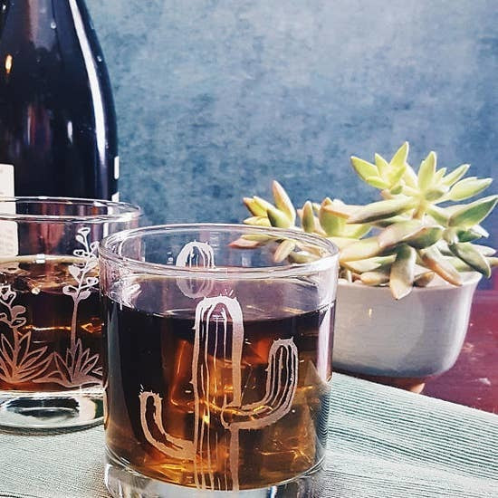 Cactus Whiskey Glass
