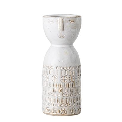 Stoneware Vase With Face Beige S